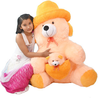 3bfb9245b9d61 Buy omnitex 3 feet cute with soft heart sitting teddy bear (cream) Online -  Get 78% Off