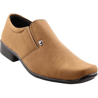 Quarks Men's Beige Smart Canvas Casual Shoes