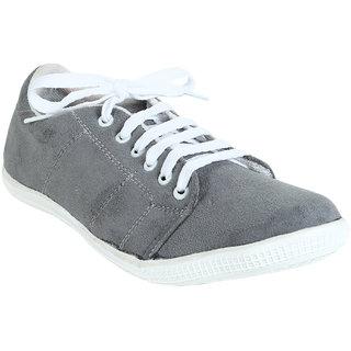 Quarks Men's Gray Suede Smart Casual Shoes