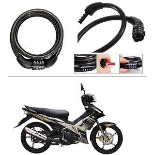 AutoStark 4 Digit Number Lock   Bike Helmet Lock / Steel Cable Lock / Bicycle Cycle Lock For Yamaha Jupiter