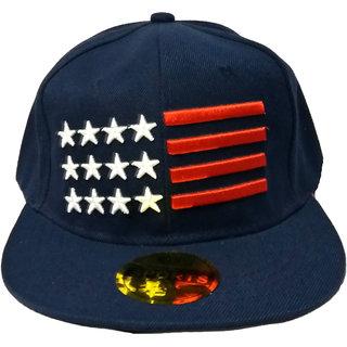 78a4e66ce607ac Buy FRIENDSKART USA Dark Blue Hip Hop Regular Cap Online @ ₹299 ...