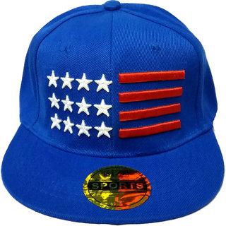 FRIENDSKART USA Sky Blue hip Hop Regular Cap