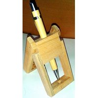 Stylish Wooden Pen Stand With Designer Pen