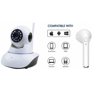 Zemini Wifi CCTV Camera and HBQ I7R Bluetooth Headset for ASUS ZENFONE SELFIE(Wifi CCTV Camera with night vision |HBQ I7R Bluetooth Headset )
