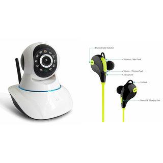 Zemini Wifi CCTV Camera and Jogger Bluetooth Headset for LENOVO vibe x2 pro(Wifi CCTV Camera with night vision  Jogger Bluetooth Headset With Mic )