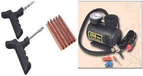 Combo Air Compressor Pump with Puncher Kit