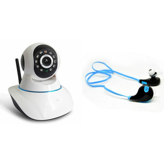 Zemini Wifi CCTV Camera and Jogger Bluetooth Headset for OPPO JOY 3(Wifi CCTV Camera with night vision |Jogger Bluetooth Headset With Mic )