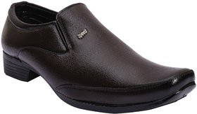 Jovelyn Brown Leather Slip-On Formal Shoes - J3206