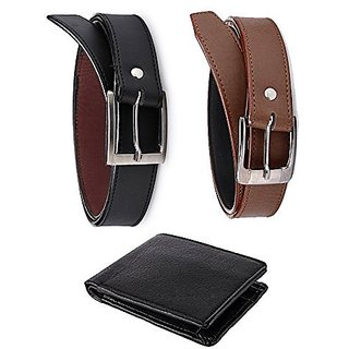 Destination 2 Belts + 1 Wallet ( pack Of 3)