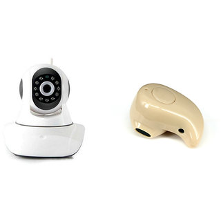 Clairbell Wifi CCTV Camera and Kaju Bluetooth Headset for MOTOROLA google nexus 6(Wifi CCTV Camera with night vision |Kaju Bluetooth Headset With Mic )