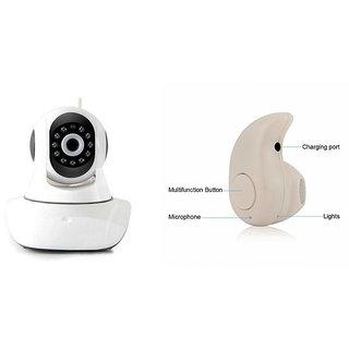 Clairbell Wifi CCTV Camera and Kaju Bluetooth Headset for LG L90.(Wifi CCTV Camera with night vision |Kaju Bluetooth Headset With Mic )