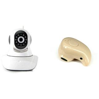 Clairbell Wifi CCTV Camera and Kaju Bluetooth Headset for LENOVO Vibex2(Wifi CCTV Camera with night vision |Kaju Bluetooth Headset With Mic )