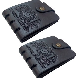 Unique Wallet For Men (Black  Brown) Pack of 2 (Synthetic leather/Rexine)