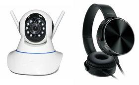 Mirza Wifi CCTV Camera And Extra Extra Bass XB450 Heads - 132505859