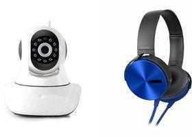 Mirza Wifi CCTV Camera And Extra Extra Bass XB450 Heads - 132506074