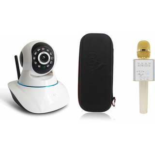 Zemini Wifi CCTV Camera and Q7 Microphone Karake With Bluetooth Speaker for SAMSUNG GALAXY S 4 MINI PLUS(Wifi CCTV Camera with night vision |Q7 Microphone Karake With Bluetooth Speaker)