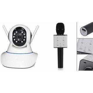 Zemini Wifi CCTV Camera and Q7 Microphone Karake With Bluetooth Speaker for SAMSUNG GALAXY E 5(Wifi CCTV Camera with night vision |Q7 Microphone Karake With Bluetooth Speaker)
