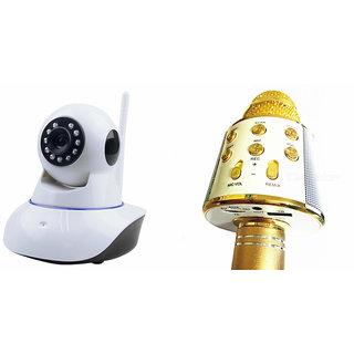 Zemini Wifi CCTV Camera and WS 858 Microphone Karake With Bluetooth Speaker for SONY xperia z4v(Wifi CCTV Camera with night vision |WS 858 Microphone Karake With Bluetooth Speaker)