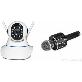 Zemini Wifi CCTV Camera and WS 858 Microphone Karake With Bluetooth Speaker for SONY xperia M4 aqua dual(Wifi CCTV Camera with night vision |WS 858 Microphone Karake With Bluetooth Speaker)