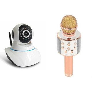 Zemini Wifi CCTV Camera and WS 858 Microphone Karake With Bluetooth Speaker for SONY xperia t2 ultra (Wifi CCTV Camera with night vision |WS 858 Microphone Karake With Bluetooth Speaker)