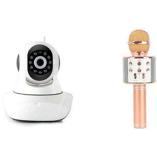 Zemini Wifi CCTV Camera and WS 858 Microphone Karake With Bluetooth Speaker for SONY xperia z4v(Wifi CCTV Camera with night vision  WS 858 Microphone Karake With Bluetooth Speaker)