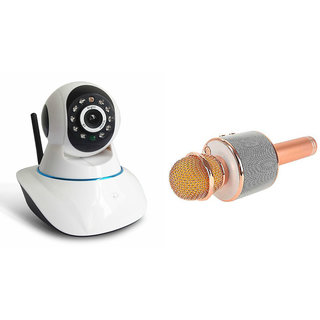 Zemini Wifi CCTV Camera and WS 858 Microphone Karake With Bluetooth Speaker for SONY mix walkman(Wifi CCTV Camera with night vision  WS 858 Microphone Karake With Bluetooth Speaker)