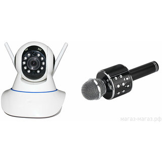 Zemini Wifi CCTV Camera and WS 858 Microphone Karake With Bluetooth Speaker for HTC ONE M9+ SUPER CAMERA(Wifi CCTV Camera with night vision |WS 858 Microphone Karake With Bluetooth Speaker)