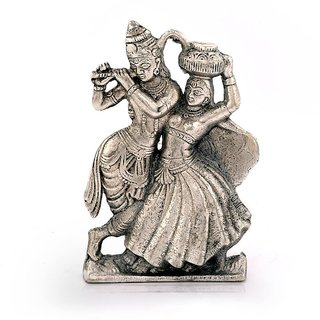 Buy Antique White Metal Lord Dancing Radha Krishna Idol 15 24 Cm
