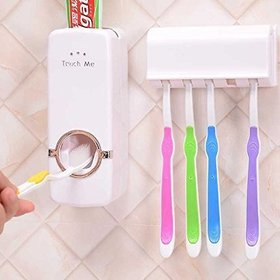 Automatic Toothpaste Dispenser And Tooth Brush Holder Set Random Color