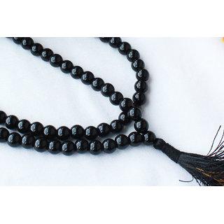 Astro Guruji  Pre Energized Kali/Black( Healing Crystal) Mala/Rosary for Japa of Kali , Maha Bhairav or wearing purpose