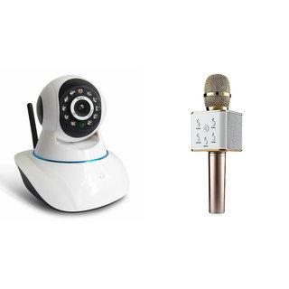 Mirza Wifi CCTV Camera and Q7 Microphone Karake With Bluetooth Speaker for LG l45 dual(Wifi CCTV Camera with night vision |Q7 Microphone Karake With Bluetooth Speaker)