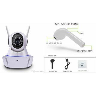 Mirza Wifi CCTV Camera and HBQ I7R Bluetooth Headset for REDMI 3(Wifi CCTV Camera with night vision |HBQ I7R Bluetooth Headset )