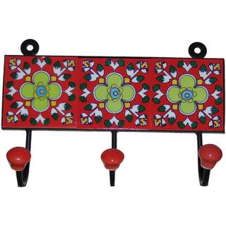 Jagdish Articals Multicolor Ceramic Wall Hanging Key Holder