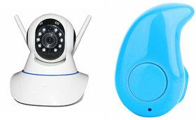 Mirza Wifi CCTV Camera and Kaju Bluetooth Headset for HTC ONE PRIME CAMERA EDITION(Wifi CCTV Camera with night vision Kaju Bluetooth Headset With Mic )