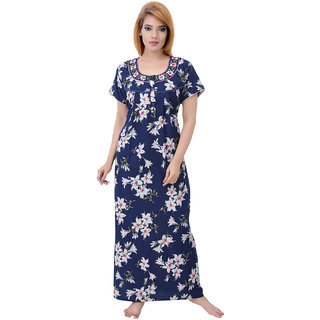 1f2b8d676e Buy Sleeping Story Women s Fine Cotton Floral Printed Nighty Online ...