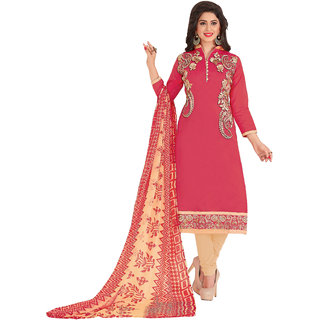 6ae98897c26 Buy DnVeens Women Pure Chanderi Embroidered Unstiched Suit Salwar Kameez  Dress Material With Dupatta BLGNGBRND07 (Unstitched) Online   ₹999 from  ShopClues