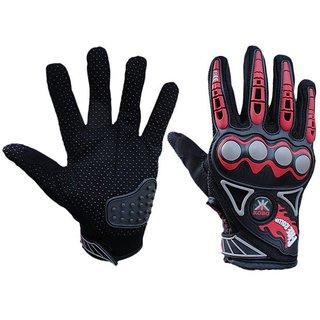 Kobo Probiker Imported Mesh Fabric Fire Roller Motorcycle Gloves (Black Medium)