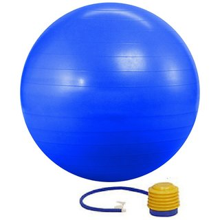 Kobo Gym Ball Anti Burst With Foot Pump 75cm(Imported) (Blue)