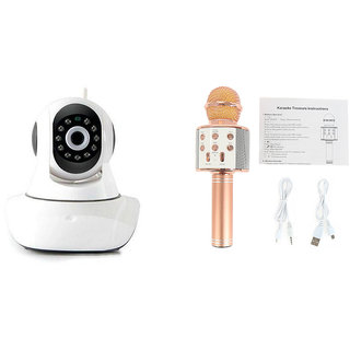 Mirza Wifi CCTV Camera and WS 858 Microphone Karake With Bluetooth Speaker for SONY xperia m dual(Wifi CCTV Camera with night vision |WS 858 Microphone Karake With Bluetooth Speaker)