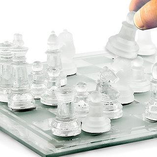Original Clear Glass HD Chess By Shopp99.Rocks