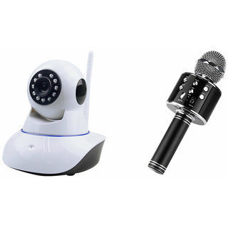Mirza Wifi CCTV Camera and WS 858 Microphone Karake With Bluetooth Speaker for SAMSUNG GALAXY A 7 DUOS(Wifi CCTV Camera with night vision |WS 858 Microphone Karake With Bluetooth Speaker)