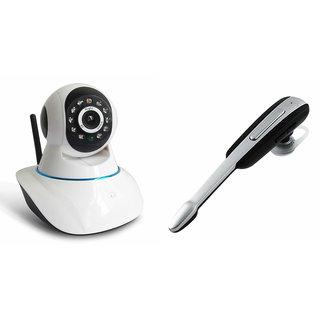 Zemini Wifi CCTV Camera and HM 1000 Bluetooth Headset for LENOVO a859(Wifi CCTV Camera with night vision  HM 1000 Bluetooth Headset With Mic )