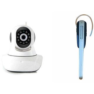 Zemini Wifi CCTV Camera and HM 1000 Bluetooth Headset for LENOVO a850(Wifi CCTV Camera with night vision |HM 1000 Bluetooth Headset With Mic )