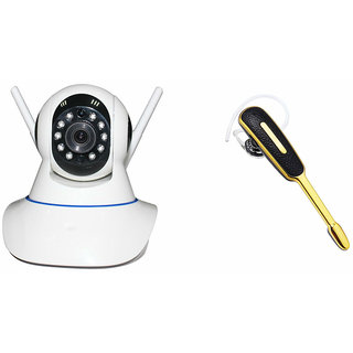 Zemini Wifi CCTV Camera and HM 1000 Bluetooth Headset for XOLO X910(Wifi CCTV Camera with night vision  HM 1000 Bluetooth Headset With Mic )