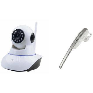 Zemini Wifi CCTV Camera and HM 1000 Bluetooth Headset for PANASONIC T4 1(Wifi CCTV Camera with night vision |HM 1000 Bluetooth Headset With Mic )