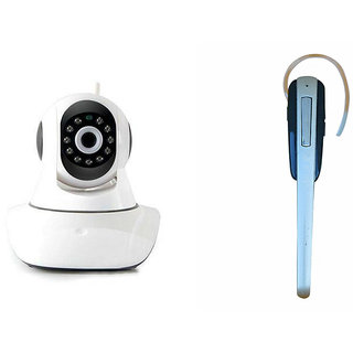 Zemini Wifi CCTV Camera and HM 1000 Bluetooth Headset for OPPO NEO 5(2015)(Wifi CCTV Camera with night vision |HM 1000 Bluetooth Headset With Mic )