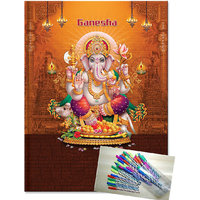 Diary 2015 Ganesh With Use & Throw Ball Pen (pack Of 20 Pen)