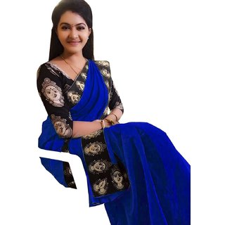 4c10c52542dda Buy Indian Beauty Kalamkari Print Border With Kalamkari Blouse Saree ...
