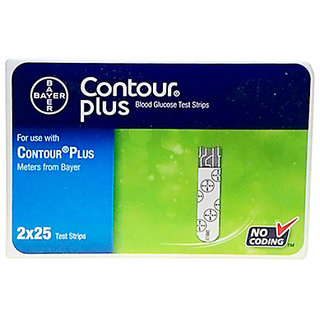 Bayer Contour Plus 50(25x2) Test Strips Expiry March 2019