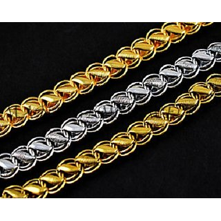 New Imported Lotus Fancy Men's Chain, 24k Gold Plated With 1Year Warranty 22inch, 30gm, 8mm With 199 rs. Value FREE Gift